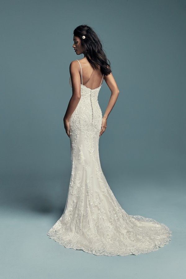 Back of Gwendolyn Wedding Dress from the Maggie Sottero Lucienne Fall 2018 Bridal Collection