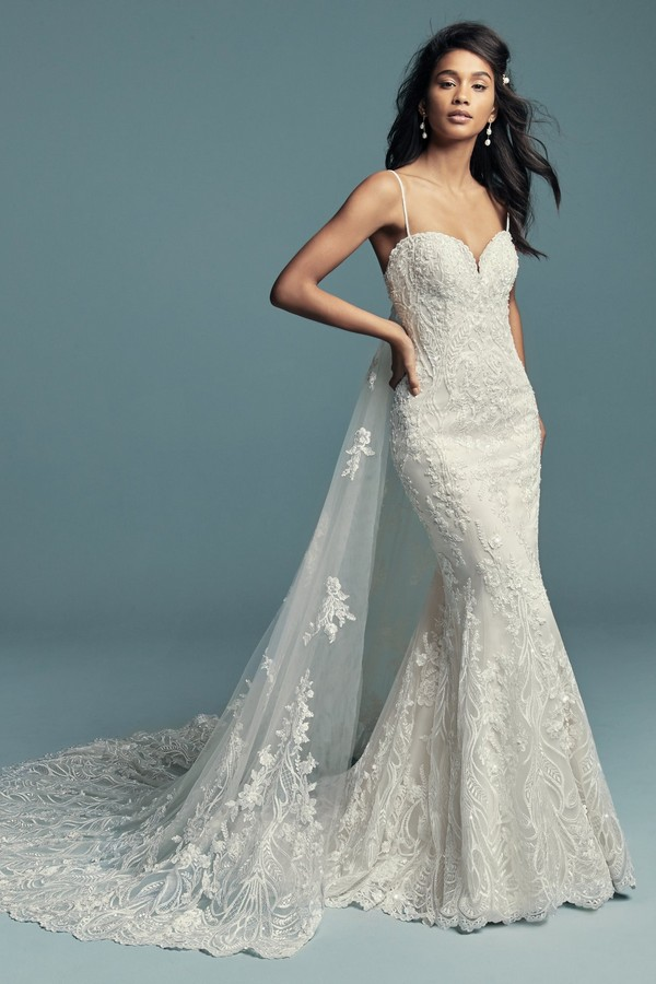 Gwendolyn Wedding Dress with Train from the Maggie Sottero Lucienne Fall 2018 Bridal Collection