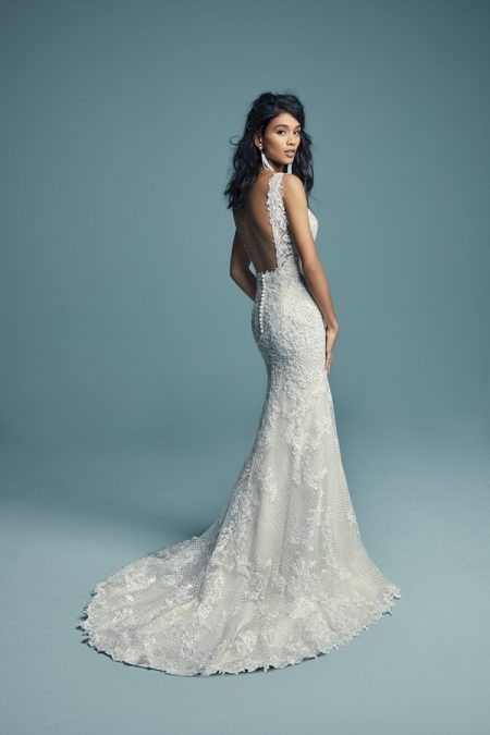 Back of Hailey Wedding Dress from the Maggie Sottero Lucienne Fall 2018 Bridal Collection