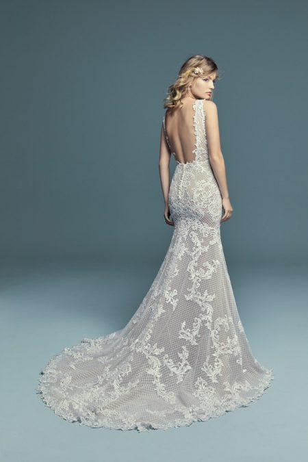 Back of Hailey Marie Wedding Dress from the Maggie Sottero Lucienne Fall 2018 Bridal Collection