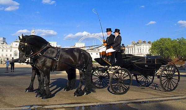 Horse-Drawn Landau Carriage