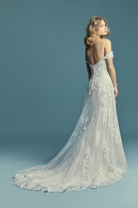 Back of Indiana Wedding Dress from the Maggie Sottero Lucienne Fall 2018 Bridal Collection
