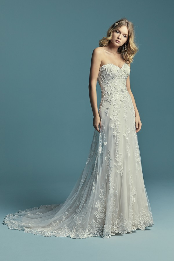 Indiana Wedding Dress from the Maggie Sottero Lucienne Fall 2018 Bridal Collection