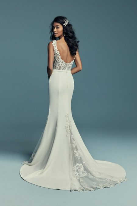 Back of Jayleen Wedding Dress from the Maggie Sottero Lucienne Fall 2018 Bridal Collection