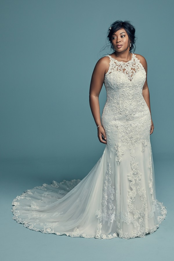Kendall Lynette Plus Size Wedding Dress from the Maggie Sottero Lucienne Fall 2018 Bridal Collection