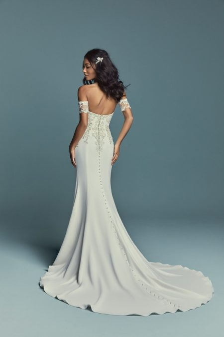 Back of Kimbra Wedding Dress from the Maggie Sottero Lucienne Fall 2018 Bridal Collection