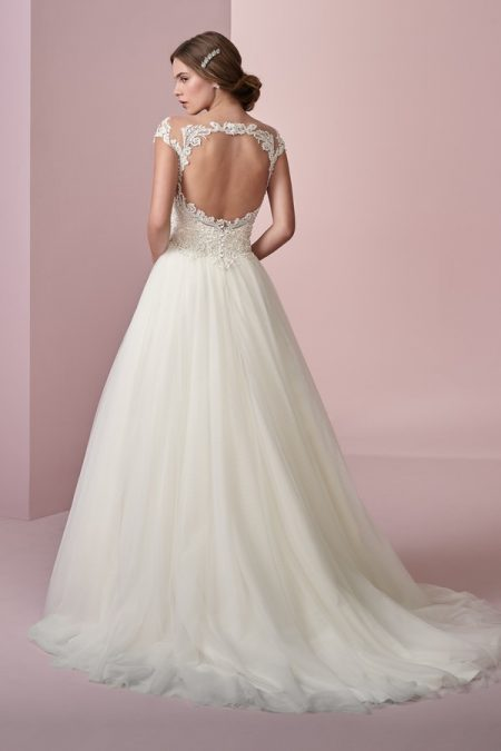 Back of Lois Wedding Dress from the Rebecca Ingram Camille Fall 2018 Bridal Collection