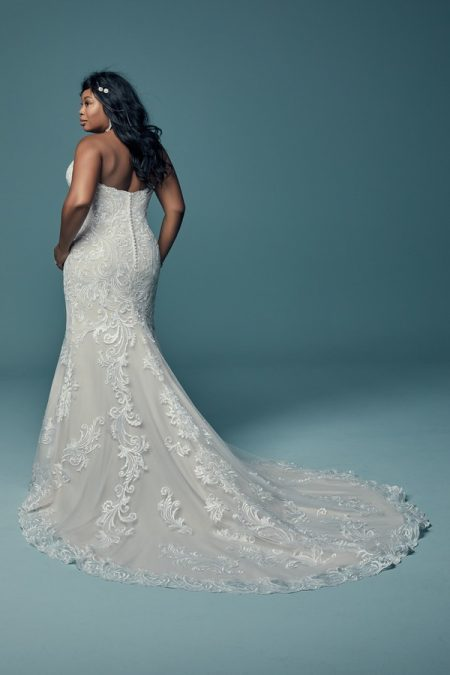 Back of Luanne Plus Size Wedding Dress from the Maggie Sottero Lucienne Fall 2018 Bridal Collection