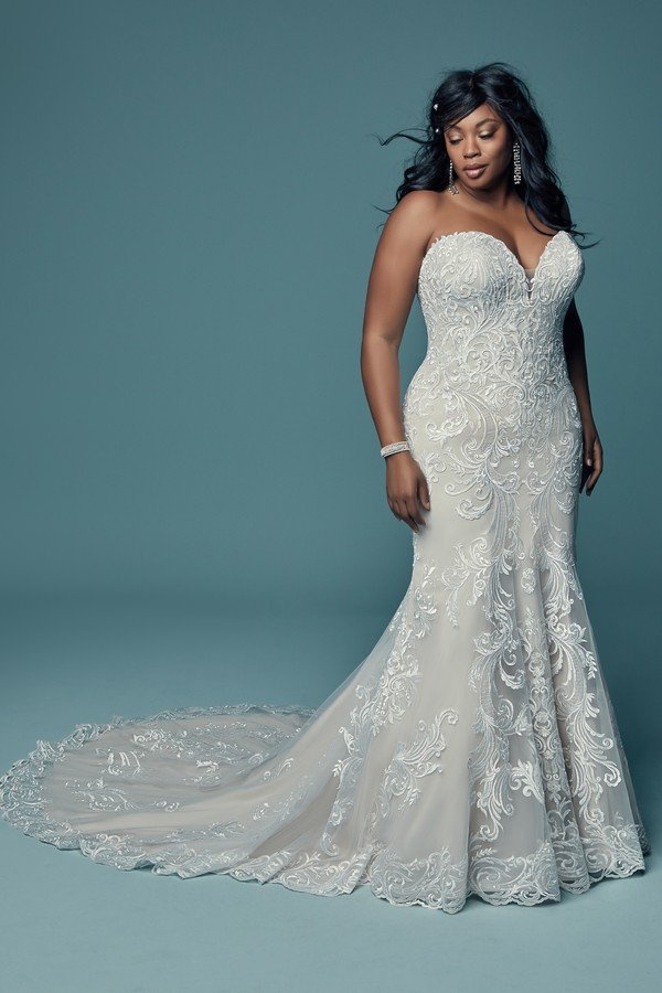 Luanne Plus Size Wedding Dress from the Maggie Sottero Lucienne Fall 2018 Bridal Collection