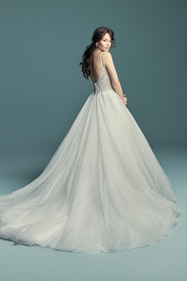 Back of Lucca Wedding Dress from the Maggie Sottero Lucienne Fall 2018 Bridal Collection