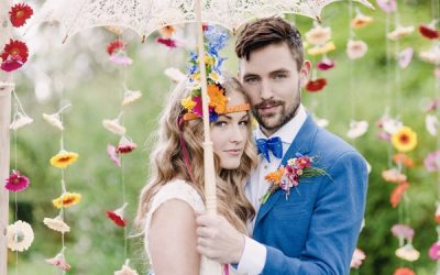 Colourful Floral Wedding Styling with a Boho Vibe