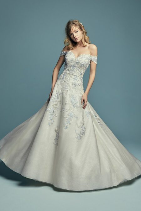 Maine Wedding Dress from the Maggie Sottero Lucienne Fall 2018 Bridal Collection