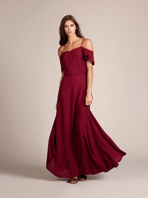 Marrakech Bridesmaid Top with Skirt in Chianti by Rewritten