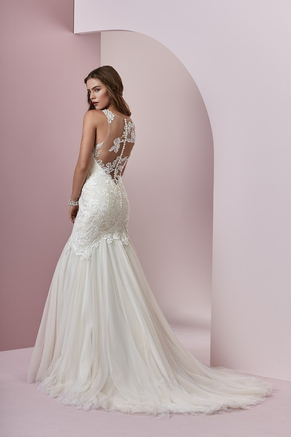 Back of Mary Wedding Dress from the Rebecca Ingram Camille Fall 2018 Bridal Collection