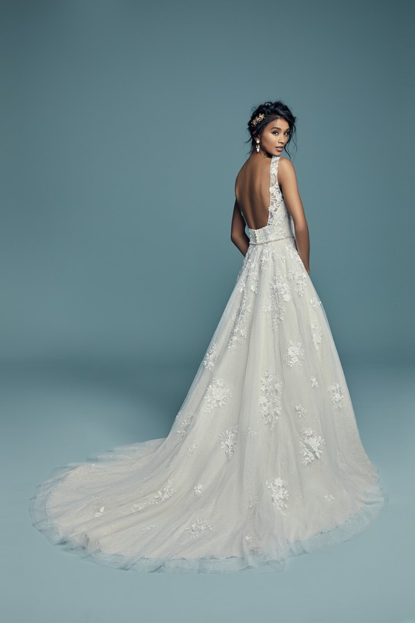 Back of Meryl Lynette Wedding Dress from the Maggie Sottero Lucienne Fall 2018 Bridal Collection