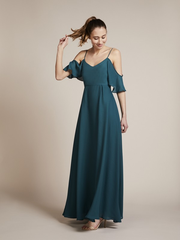 Mykonos Bridesmaid Dress in Forest by Rewritten