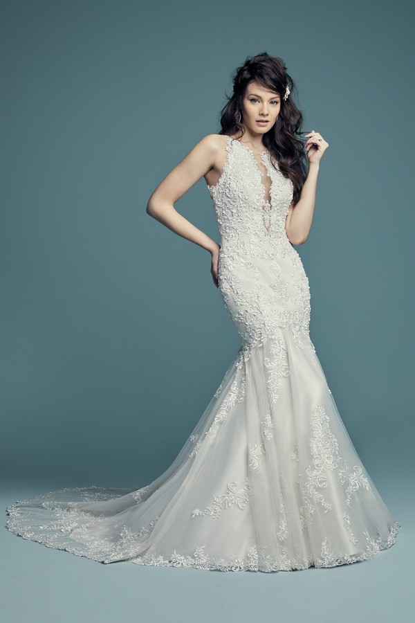 November Wedding Dress from the Maggie Sottero Lucienne Fall 2018 Bridal Collection