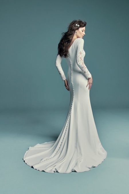 Back of Olyssia Wedding Dress from the Maggie Sottero Lucienne Fall 2018 Bridal Collection