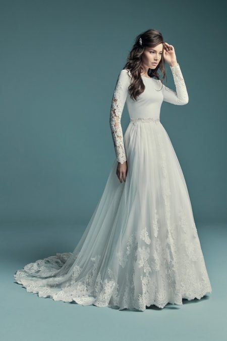 Olyssia Wedding Dress with Overskirt from the Maggie Sottero Lucienne Fall 2018 Bridal Collection
