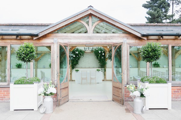 Orangery with wedding ceremony seating at Gaynes Park