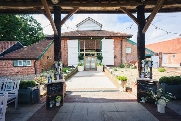 Outside Mill Barn at Gaynes Park
