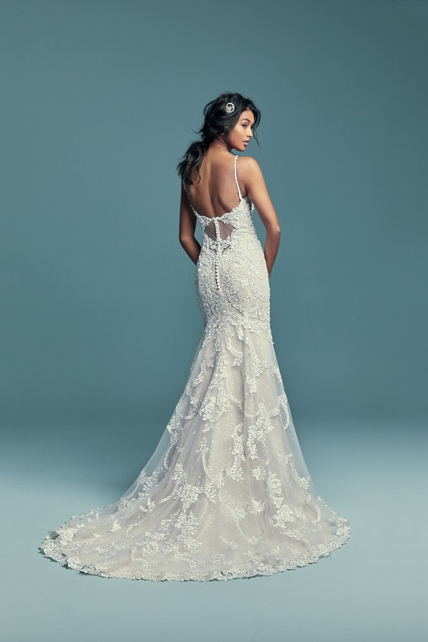 Back of Riley Wedding Dress from the Maggie Sottero Lucienne Fall 2018 Bridal Collection