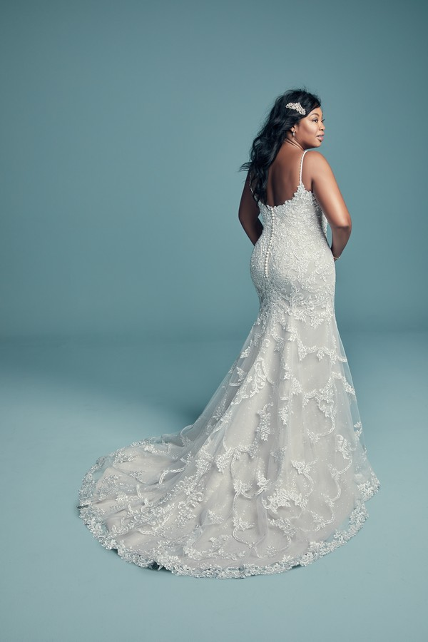 Back of Riley Marie Plus Size Wedding Dress from the Maggie Sottero Lucienne Fall 2018 Bridal Collection
