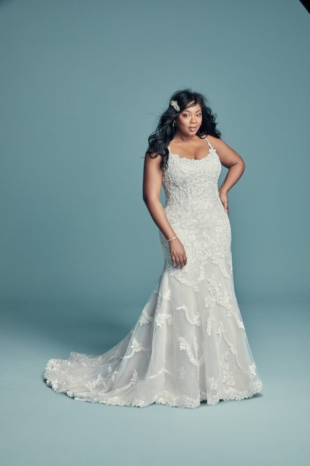 Riley Marie Plus Size Wedding Dress from the Maggie Sottero Lucienne Fall 2018 Bridal Collection