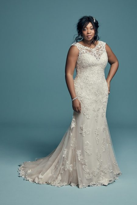 Rosanna Plus Size Wedding Dress from the Maggie Sottero Lucienne Fall 2018 Bridal Collection