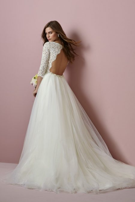 Back of Scarlett Wedding Dress from the Rebecca Ingram Camille Fall 2018 Bridal Collection
