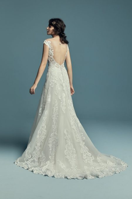 Back of Serena Wedding Dress from the Maggie Sottero Lucienne Fall 2018 Bridal Collection
