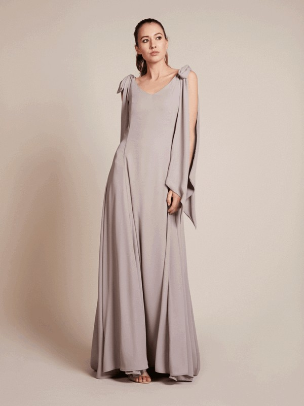 Seville Bridesmaid Dress in Concrete by Rewritten