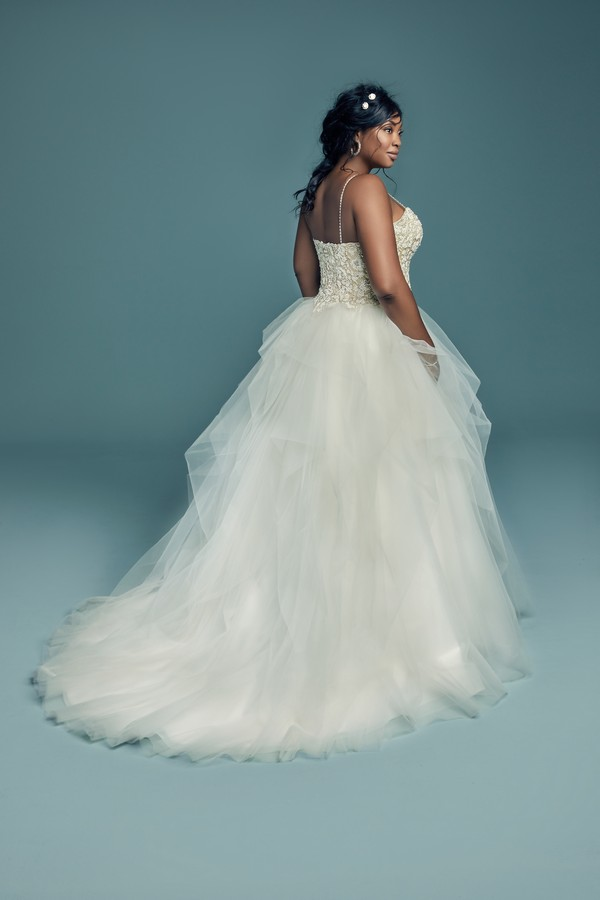 Back of Shauna Lynette Plus Size Wedding Dress from the Maggie Sottero Lucienne Fall 2018 Bridal Collection