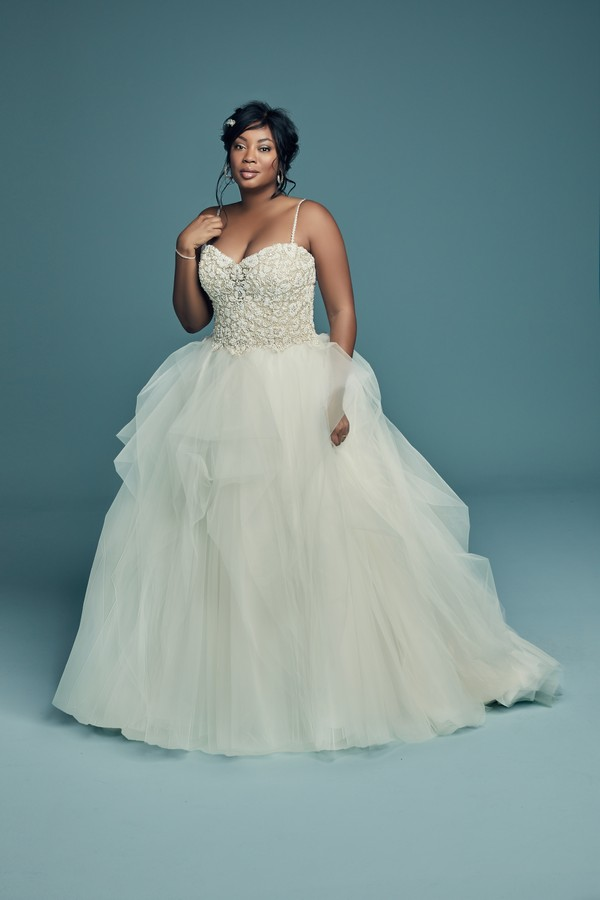 Shauna Lynette Plus Size Wedding Dress from the Maggie Sottero Lucienne Fall 2018 Bridal Collection
