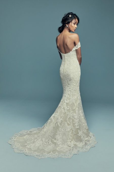 Back of Stephanie Wedding Dress from the Maggie Sottero Lucienne Fall 2018 Bridal Collection