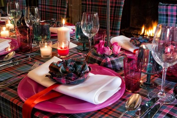 Tartan Wedding Table Styling