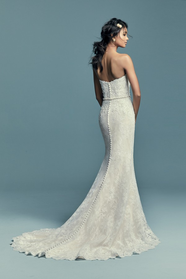 Back of Tenille Wedding Dress from the Maggie Sottero Lucienne Fall 2018 Bridal Collection