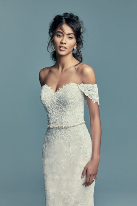 Tenille Wedding Dress with Cap Sleeves from the Maggie Sottero Lucienne Fall 2018 Bridal Collection