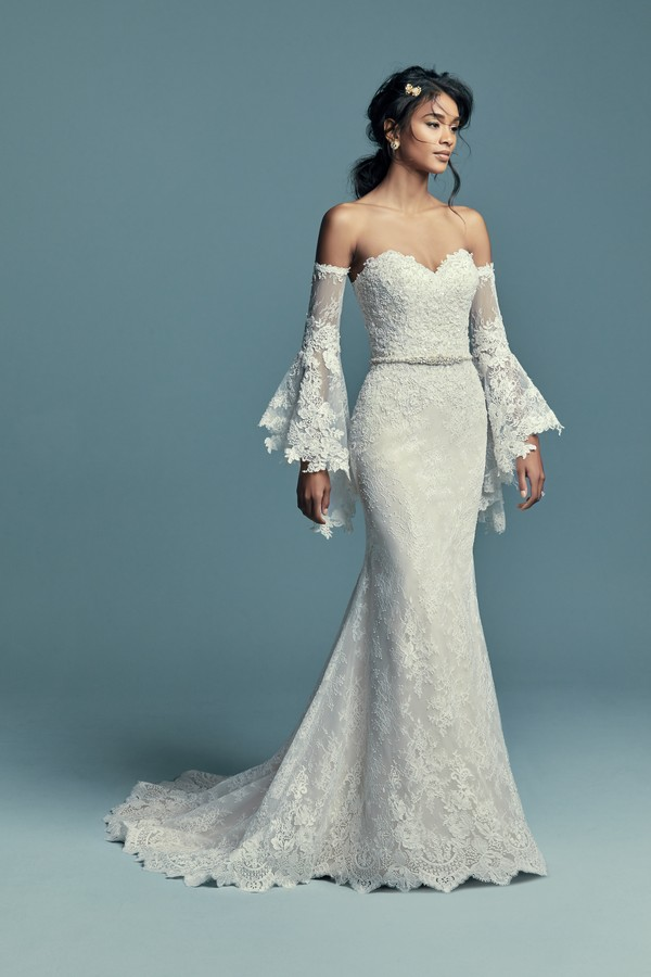 Tenille Wedding Dress with Poet Sleeves from the Maggie Sottero Lucienne Fall 2018 Bridal Collection