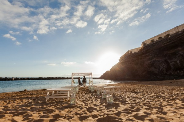 Beach Wedding Seating at The Ritz-Carlton Abama, Tenerife