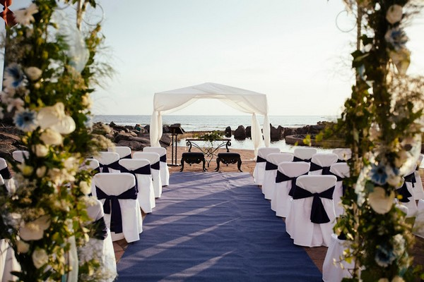 Wedding Ceremony Seating on Beach at Villa Cortes, Tenerife