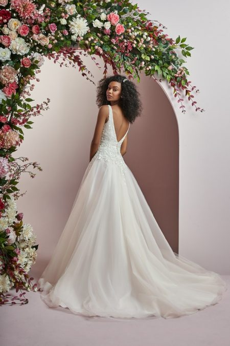 Back of Wynona Wedding Dress from the Rebecca Ingram Camille Fall 2018 Bridal Collection