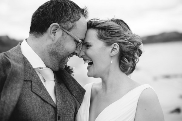 Bride and groom touching heads - Picture by Bethany Lloyd-Clarke Photography