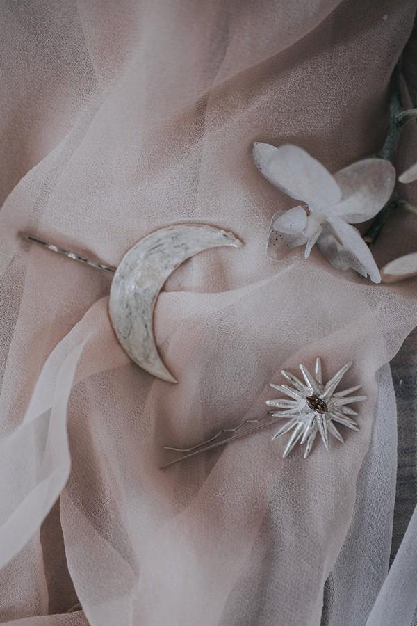 Celestial wedding styling details