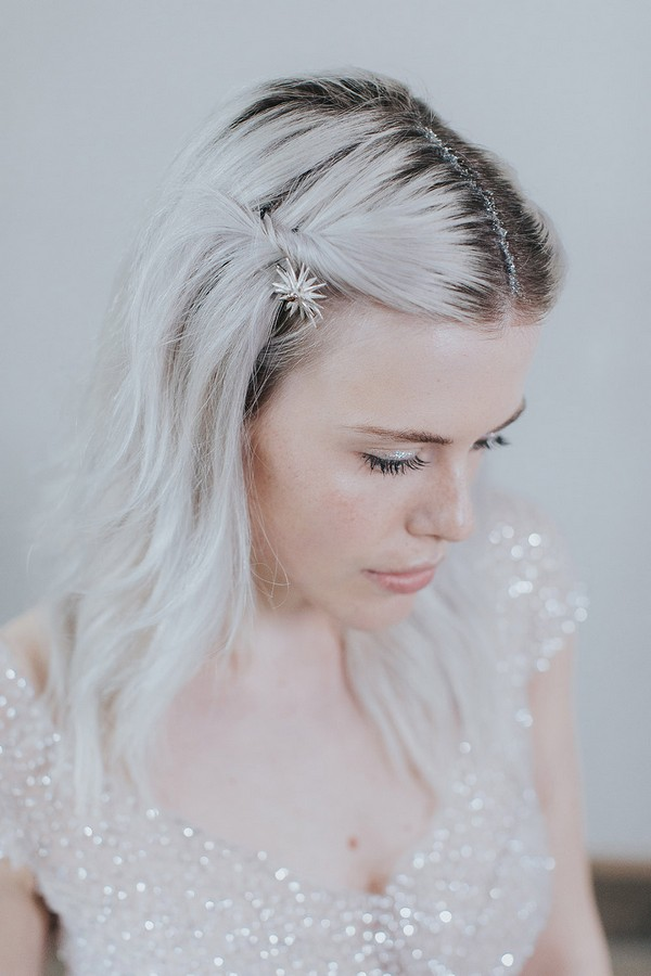 Bride with star in her hair