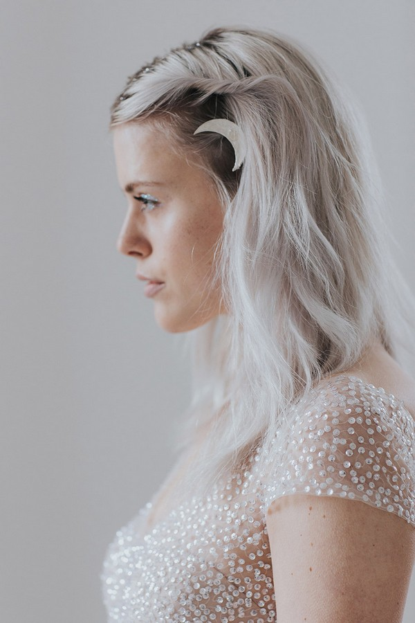 Bride with moon in hair