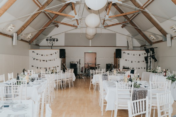 Wedding tables in Binham Memorial Village Hall