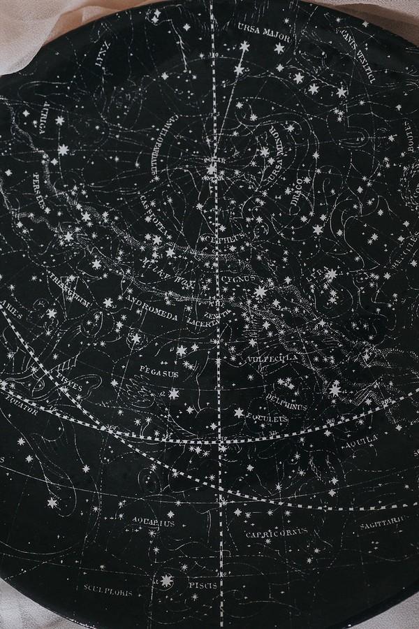Galaxy pattern on plate