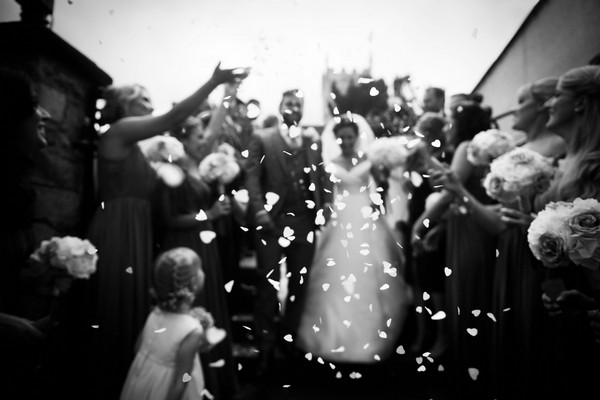 Wedding confetti shot - Picture by Bethany Lloyd-Clarke Photography