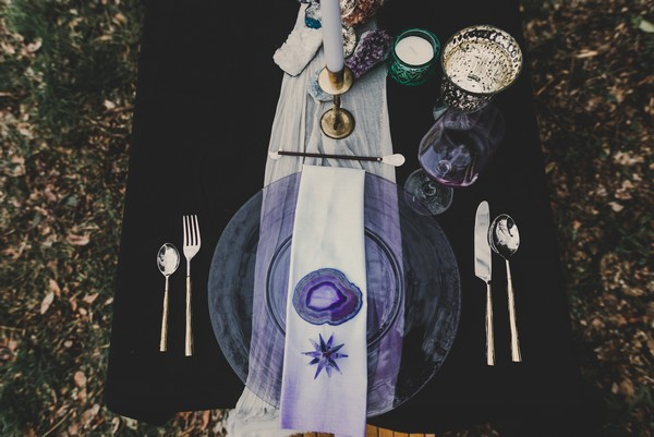 Celestial wedding table styling